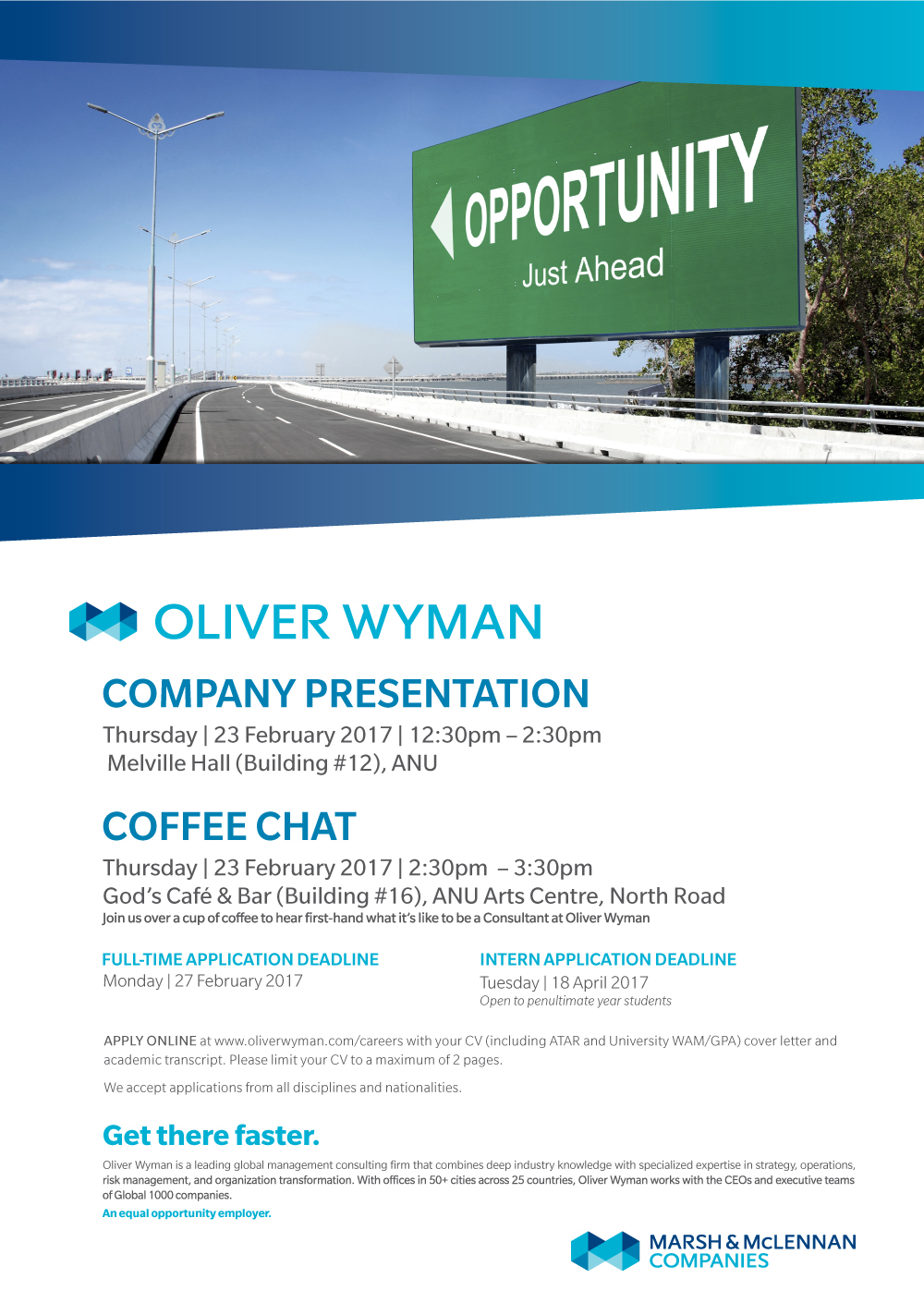 Oliver Wyman Company Presentation and Coffee Chat